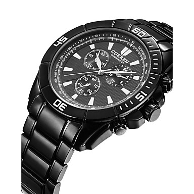 Erkek Spor Saat Elbise Saat Moda Saat Bilek Saati Quartz Alaşım Bant İhtişam Günlük Çok-Renkli