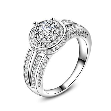 Yüzükler Düğün Parti Özel Anlar Günlük Mücevher Zirkon Evlilik Yüzükleri Yüzük Nişan yüzüğü 1pc,6 7 8 9 10 Gümüş