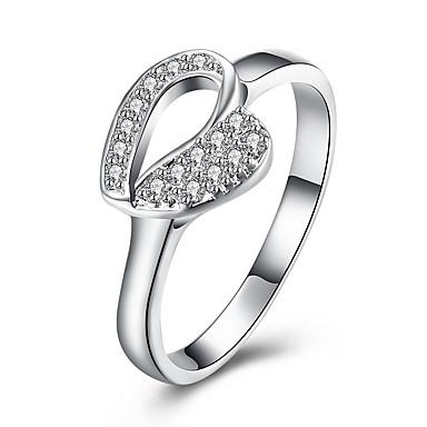 Inele Zilnic Bijuterii Aliaj Zirconiu Argilă Inel 1 buc,8 Argint