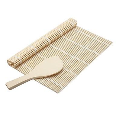 2 piese bile de orez spatula Ustensile de Sushi For pentru Rice Bambus Nelipicios Calitate superioară Bucătărie Gadget creativ