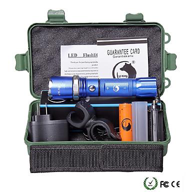 U'King Latarki LED LED 2000 lm 5 Tryb Cree XM-L T6 z baterią i ładowarką Zoomable Regulacja promienia Przysłonięcia