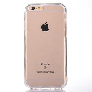 Uyumluluk iPhone 7 Kılıf iPhone 7 Plus Kılıf iPhone 6 Kılıf Kılıflar Kapaklar Şeffaf Arka Kılıf Pouzdro Tek Renk Sert PC için Apple