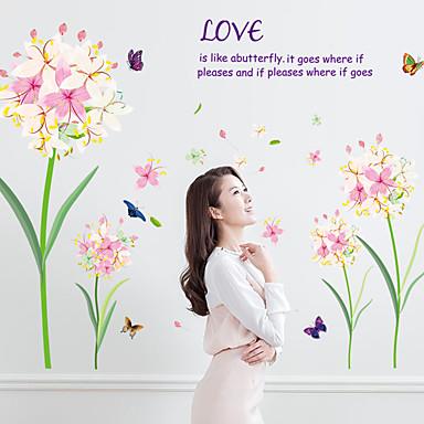 Words & Quotes Moda Florals Naklejki Naklejki ścienne lotnicze Dekoracyjne naklejki ścienne,Papier Materiał Dekoracja domowa Naklejka