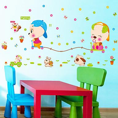 Eläimet Piirretty Muoti Wall Tarrat Lentokone-seinätarrat Koriste-seinätarrat,Paperi materiaali Kodinsisustus Seinätarra
