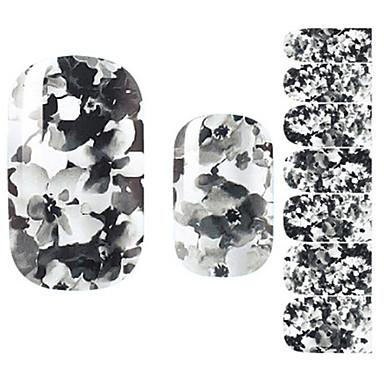 Etiquetas de unhas 3D Flor Fashion Adorável Diário Alta qualidade