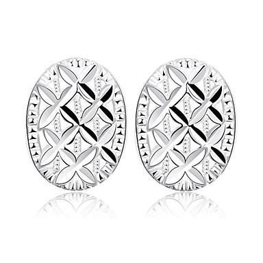 Vidali Küpeler Mücevher Bakır Gümüş Kaplama Gümüş Mücevher Için Günlük 1 çift