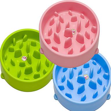 Γάτα Σκύλος Τροφοδότες Κατοικίδια Μπολ & Διατροφή Αδιάβροχη Φορητό Με δύο πλευρές Πράσινο Μπλε Ροζ Πλαστικό