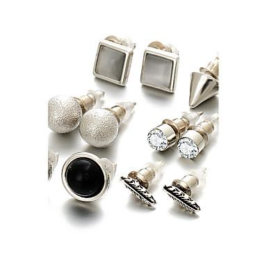 أقراط الزر لؤلؤ تقليدي حجر الراين سبيكة مجوهرات من أجل زفاف حزب يوميا فضفاض الرياضة