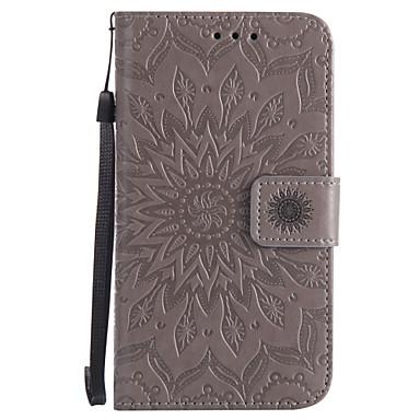 Pentru Portofel Titluar Card Cu Stand Întoarce Embosat Model Maska Corp Plin Maska Mandala Greu PU piele pentru NokiaNokia Lumia 640