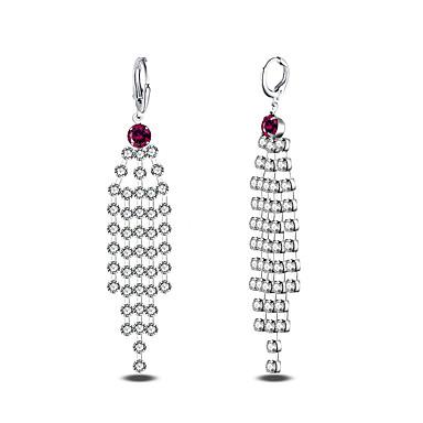 Kolczyki wiszące Cyrkonia Cyrkon Powłoka platynowa Biżuteria Silver Ślub Impreza Codzienny Casual Biżuteria kostiumowa