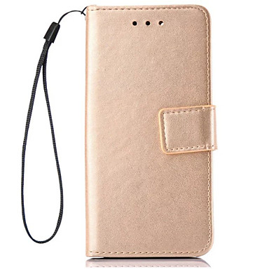 Etui Käyttötarkoitus Samsung Galaxy J7 (2016) J5 (2016) Korttikotelo Lomapkko Tuella Flip Suojakuori Yhtenäinen väri Kova PU-nahka varten