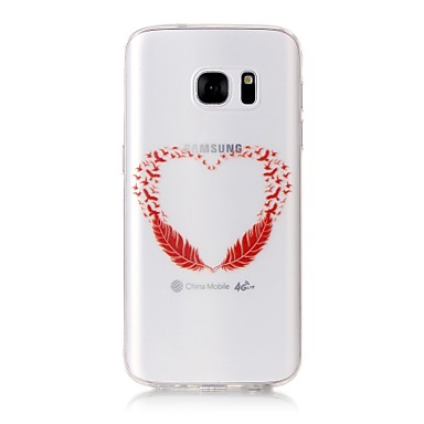 tok Για Samsung Galaxy S7 edge S7 Διαφανής Με σχέδια Πίσω Κάλυμμα Καρδιά Μαλακή TPU για S7 edge S7
