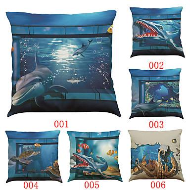 6 szt Bielizna Poszewka na poduszkę Pokrywa Pillow,Textured Geometryczny Stały Wałek Styl plażowy Tradycyjny / Classic