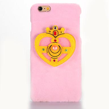 Kılıf Na Apple iPhone 7 Plus / iPhone 7 Lustro / DIY Czarne etui Kreskówka 3D Twarde Włókienniczy na iPhone 7 Plus / iPhone 7 / iPhone 6s