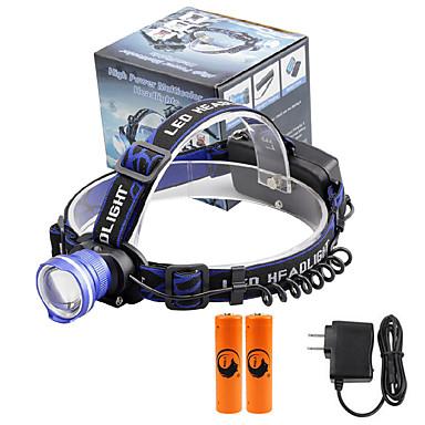 U'King Otsalamput Ajovalo LED 2000 lm 3 Tila Cree XM-L T6 Akuilla ja laturilla Zoomable Hälytys Säädettävä fokus Kompakti koko Helppo