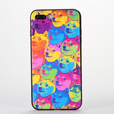 Kılıf Na Apple iPhone 7 Plus iPhone 7 Wzór Czarne etui Pies Miękkie Silikonowy na iPhone 7 Plus iPhone 7 iPhone 6s Plus iPhone 6s iPhone