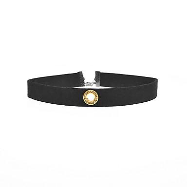 Damskie Naszyjniki choker Biżuteria Circle Shape Biżuteria Materiał Imitacja diamentu Stop euroamerykańskiej minimalistyczny styl