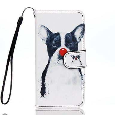 Etui Käyttötarkoitus Apple iPhone 7 Plus iPhone 7 Korttikotelo Lomapkko Tuella Flip Kuvio Suojakuori Koira Kova PU-nahka varten iPhone 7
