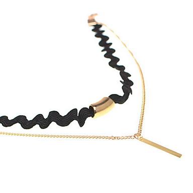 Γυναικεία Κολιέ Τσόκερ Κρεμαστά Κολιέ Κοσμήματα Ενιαία Δέσμη Ανοξείδωτο Ατσάλι Διπλή στρώση Ευρωπαϊκό Euramerican μινιμαλιστικό στυλ