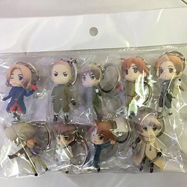 Anime Toimintahahmot Innoittamana Hetalia Cosplay PVC 6 CM Malli lelut Doll Toy