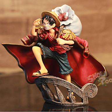 Anime Toimintahahmot Innoittamana One Piece Monkey D. Luffy 15 CM Malli lelut Doll Toy