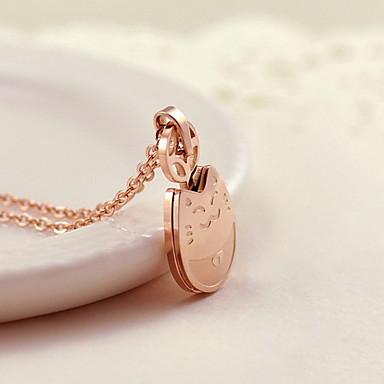 billige Mode Halskæde-Dame Halskædevedhæng Cirkelformet Drage Titanium Stål Enkelt design Mode Sød Stil Smykker Til Daglig Afslappet