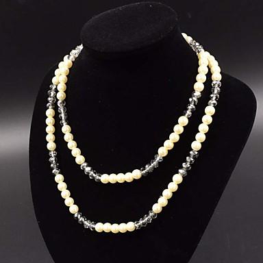Γυναικεία Σκέλη Κολιέ Κοσμήματα Κοσμήματα Μαργαριτάρι Ακρυλικό Ακρυλικό Μοντέρνα Εξατομικευόμενο Euramerican Ευρωπαϊκό Κοσμήματα ΓιαΠάρτι