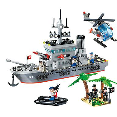 ENLIGHTEN 820 Legolar Modely 614 pcs Kendin-Yap Warship Gemi Genç Erkek Hediye
