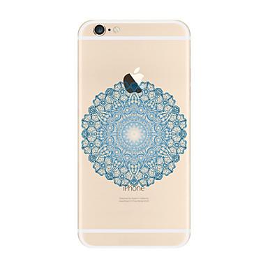 غطاء من أجل Apple iPhone X iPhone 8 Plus شفاف نموذج غطاء خلفي ماندالا نمط ناعم TPU إلى iPhone X iPhone 8 Plus iPhone 8 فون 7 زائد فون 7