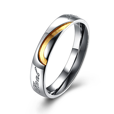 Heren Dames Ringen voor stelletjes Sieraden Cirkelvormig ontwerp Roestvast staal Cirkelvorm Kostuum juwelen Feest Kantoor / Formeel