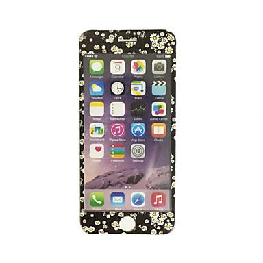 iPhone 7 4,7 tuuman karkaistua lasia pehmeällä reunaan peittää koko näytön edessä näytön suojus kukat malli
