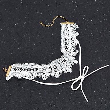 Γυναικεία Κολιέ Τσόκερ Bowknot Shape Cross Shape Δαντέλα Φλοράλ Μοντέρνα Εξατομικευόμενο Euramerican Ευρωπαϊκό Κοσμήματα Για Καθημερινά