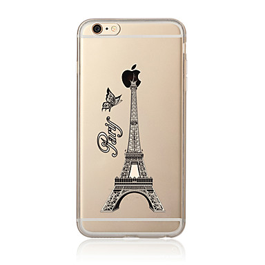 Maska Pentru Apple iPhone 7 Plus iPhone 7 Transparent Model Capac Spate Turnul Eiffel Moale TPU pentru iPhone 7 Plus iPhone 7 iPhone 6s