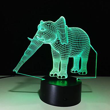 3D شخصية خلاقة لمسة ملونة أدى شمعة