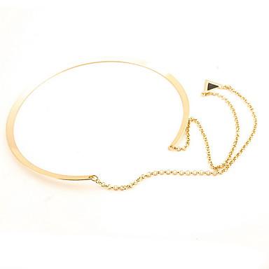 Naszyjniki choker Naszyjniki z wisiorkami Biżuteria Geometric Shape Stop Unikalny Geometryczny Modny euroamerykańskiej Europejski Gold