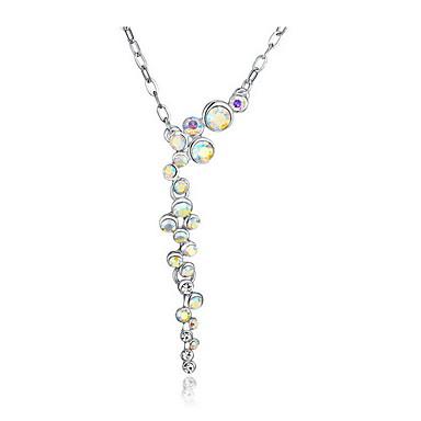 Κρεμαστά Κολιέ Κρυστάλλινο Ασήμι Στερλίνας Βασικό Καρδιά μινιμαλιστικό στυλ Κοσμήματα Για Καθημερινά Causal