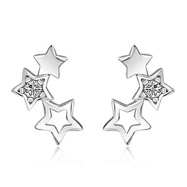 Κουμπωτά Σκουλαρίκια Cubic Zirconia κοστούμι κοστουμιών Ασήμι Στερλίνας Κοσμήματα Για Γάμου Πάρτι Καθημερινά Causal