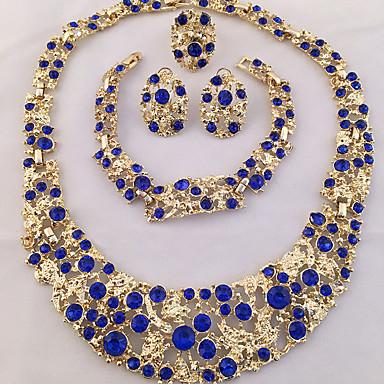 Damskie Zestawy biżuterii Pierscionek Oświadczenie Naszyjniki Bransoletka Kolczyk Spersonalizowane Unikalny Modny Afryka Impreza