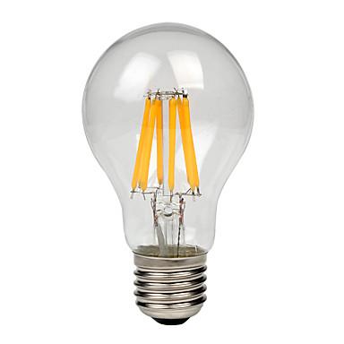1 buc 8W 700-750lm lm E27 Bec Filet LED A60(A19) 8pcs led-uri COB Alb Cald Alb Rece 220V-240V