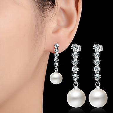 Κρεμαστά Σκουλαρίκια Απομίμηση Μαργαριτάρι Κράμα Κοσμήματα Λευκό Γάμου Πάρτι Καθημερινά Causal Κοστούμια Κοσμήματα