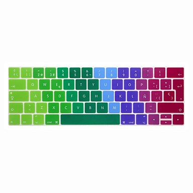 xskn® eurooppalainen espanja värikäs silikoninäppäimistö ihon ja touchbar suojelija 2016 uusin MacBook Pro 13,3 / 15,4 Touch bar