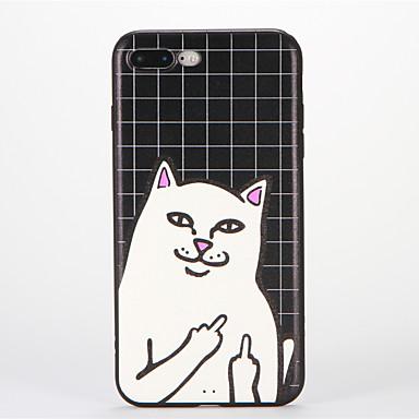 Käyttötarkoitus iPhone 8 iPhone 8 Plus kotelot kuoret Kuvio Takakuori Etui Kissa Pehmeä Silikoni varten Apple iPhone 8 Plus iPhone 8
