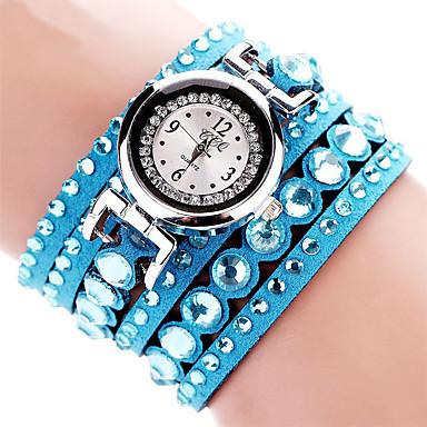 Damskie Kwarcowy Zegarek na nadgarstek / Zegarek na bransoletce sztuczna Diament Tkanina Pasmo Urok / Błyszczące / Na co dzień /