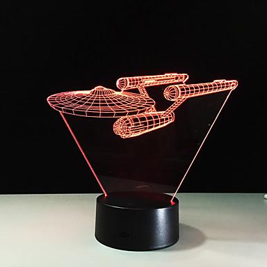 1 piesă 3D Nightlight Telecomandă Vedere nocturnă Mărime Mică Schimbare - Culoare Artistic LED Modern/Contemporan