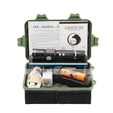 U'King Φακοί LED LED 2000 lm 3 Τρόπος Cree XM-L T6 με μπαταρία και φορτιστή Zoomable Ρυθμιζόμενη Εστίαση Επαναφορτιζόμενο