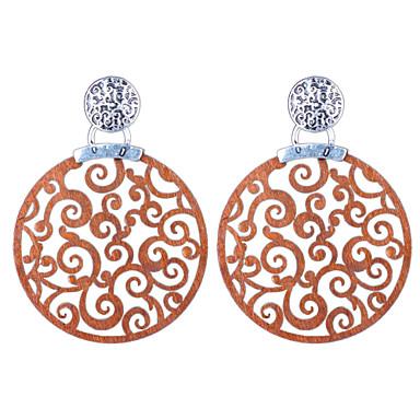 / Κρεμαστά Σκουλαρίκια Κοσμήματα Γάμου Πάρτι Καθημερινά Causal Ξύλο 1 ζευγάρι Ασημί