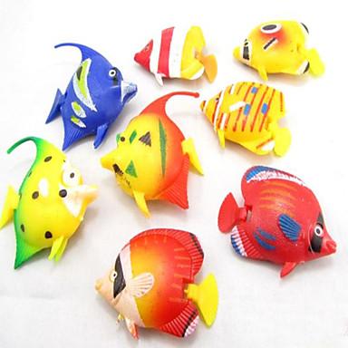 Decorațiune pentru Acvariu Pește Artificial Ne-Toxic & Fără Gust Plastic