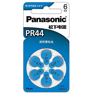 Panasonic pr-44ch / 6c baterii przycisk monety cellc cynku 1.4V 6 opakowanie