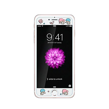 pentru Apple iPhone 6 / 6S plus 5.5inch sticla transparent ecran protector față cu desene animate model stampare strălucire în întuneric