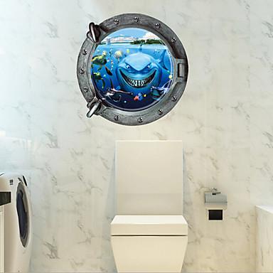 Animale Desene Animate Romantic Perete Postituri 3D Acțibilduri de Perete Autocolante de Perete Decorative Autocolante toaletă,Hârtie